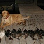 River after her Waterfowl hunt in Texas